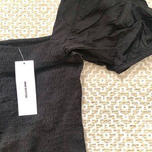 Black mini sundress